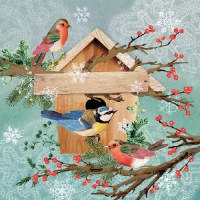 Lunch napkins X-Mas Bird House