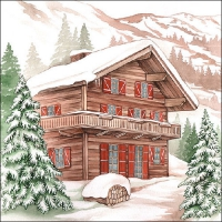 Serviettes lunch Winter Chalet