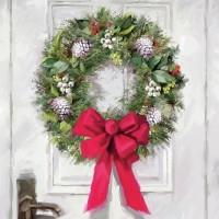 Servilletas Lunch White Wreath