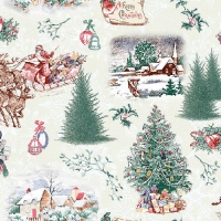 Serviettes lunch Nostalgic Christmas Green