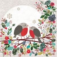 Lunch napkins Robins on Branch