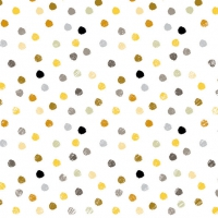 Lunch napkins Swirling Dots White
