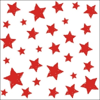 Lunch napkins Swirling Stars Red