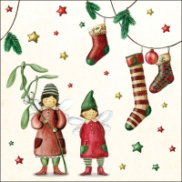 Lunch napkins Christmas Fairies