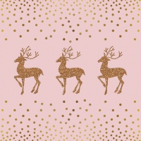 Lunch napkins Deer And Dots Rose