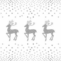 Serviettes lunch Deer And Dots White