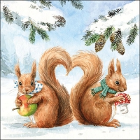 Lunch Servietten Squirrel Love