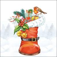 Serwetki 33x33 cm - Boże Narodzenie Boot