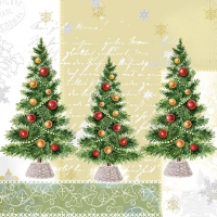 Serwetki 33x33 cm - Trzy drzewa
