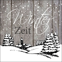 Lunch Servietten Winter Zeit Grey