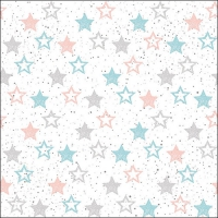 Napkins 33x33 cm - Stars All Over Petrol