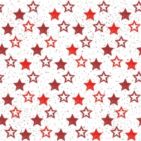 Lunch Servietten Stars All Over Red