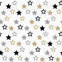 Lunch Servietten Stars All Over Black