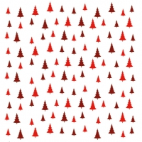 Napkins 33x33 cm - Trees All Over Red