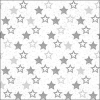 Lunch Tovaglioli Stars All Over Silver
