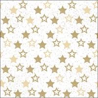 Serwetki 33x33 cm - Gwiazdy Wszystko ponad złotem