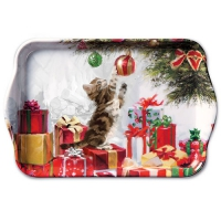 Tray Kitten And Bauble