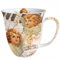 Porzellan-Henkelbecher Mug 0.4 L Angel Faces
