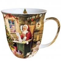 porcelain cup Santas Mail