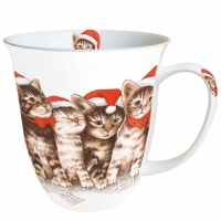 taza de la porcelana Singing Cats