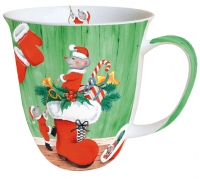 porcelain cup X-Mas Mice