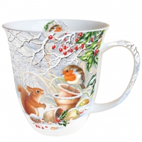 porcelain cup Mug 0.4 L Winter Picture