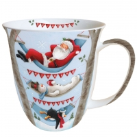 porcelain cup Mug 0.4 L Relaxing Christmas