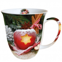 taza de la porcelana Mug 0.4 L Apple