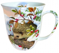 porcelain cup Hedgehog In Snow
