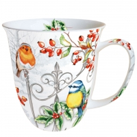 tasse de porcelaine Birds & Holly