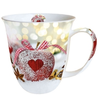 taza de la porcelana Heart On Apple