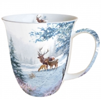 porcelain cup Deer Family