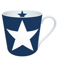 porcelain cup Star Dark Blue