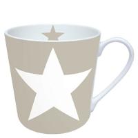 Porzellan-Henkelbecher Star Sand