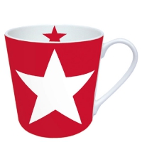 porcelain cup Star Red