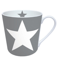 porcelain cup Star Grey