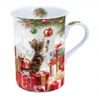 porcelain cup Kitten And Bauble