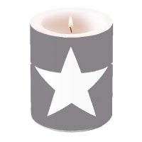 Kerze CANDLE STAR GREY