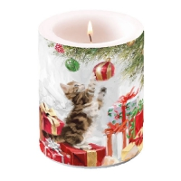 Candles Kitten And Bauble