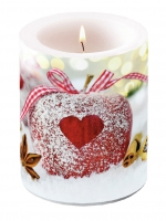 candele Heart On Apple