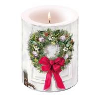Candles White Wreath