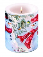 Velas Snowmen And Birds