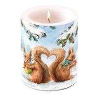 Dekorkerze Squirrel Love