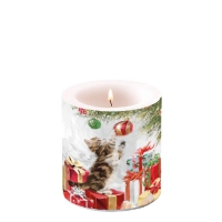 Candles small Kitten And Bauble
