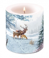 Candles small Deer Family