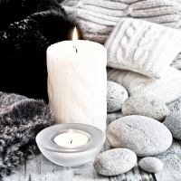 Serviettes lunch Nordic Candle