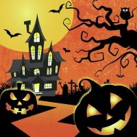 Servietten 33x33 cm - Unheimliches Halloween