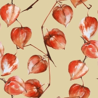 Lunch napkins Painted Physalis