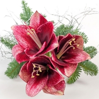 Servilletas Lunch Christmas Rose