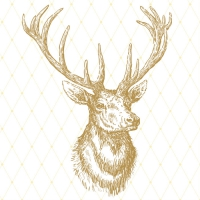 Lunch napkins Elegant Elk gold